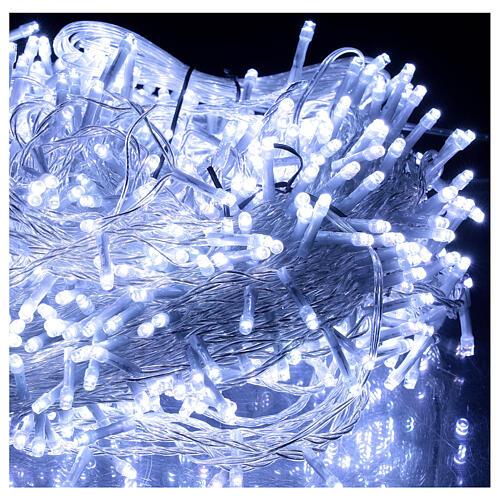 Catena luminosa 800 led 2 in 1 bianco freddo multicolor 56 m int est 4