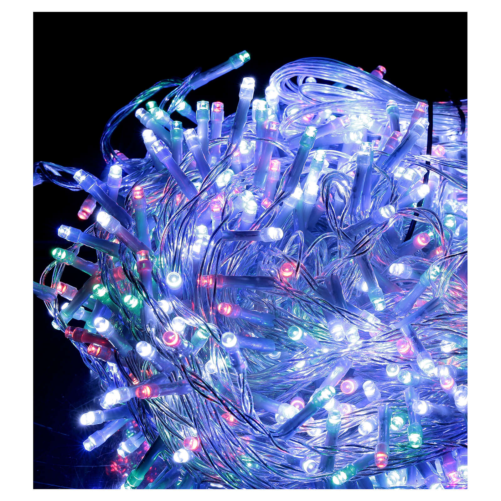 Christmas string lights 800 LEDs 2 in 1 cool white multi-color 56 m indoor outdoor 3