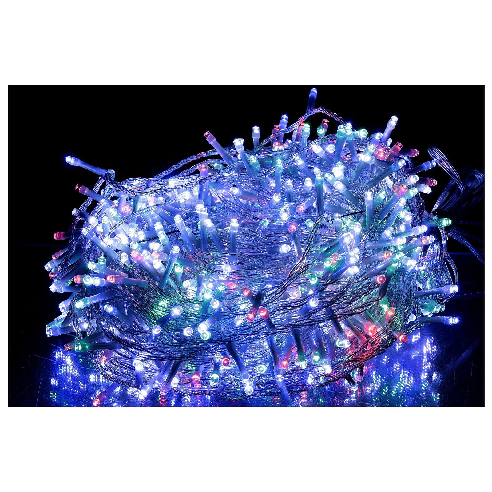 Guirlande 800 LED blanc chaud multicolore 2-en-156 m int/ext 3