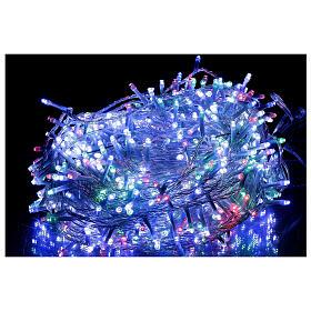 Guirlande 800 LED blanc chaud multicolore 2-en-156 m int/ext s2