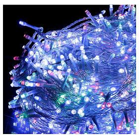 Guirlande 800 LED blanc chaud multicolore 2-en-156 m int/ext s3
