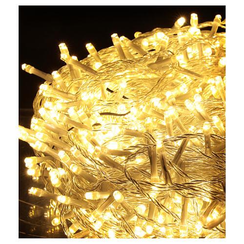 Guirlande 800 LED blanc chaud multicolore 2-en-156 m int/ext 4