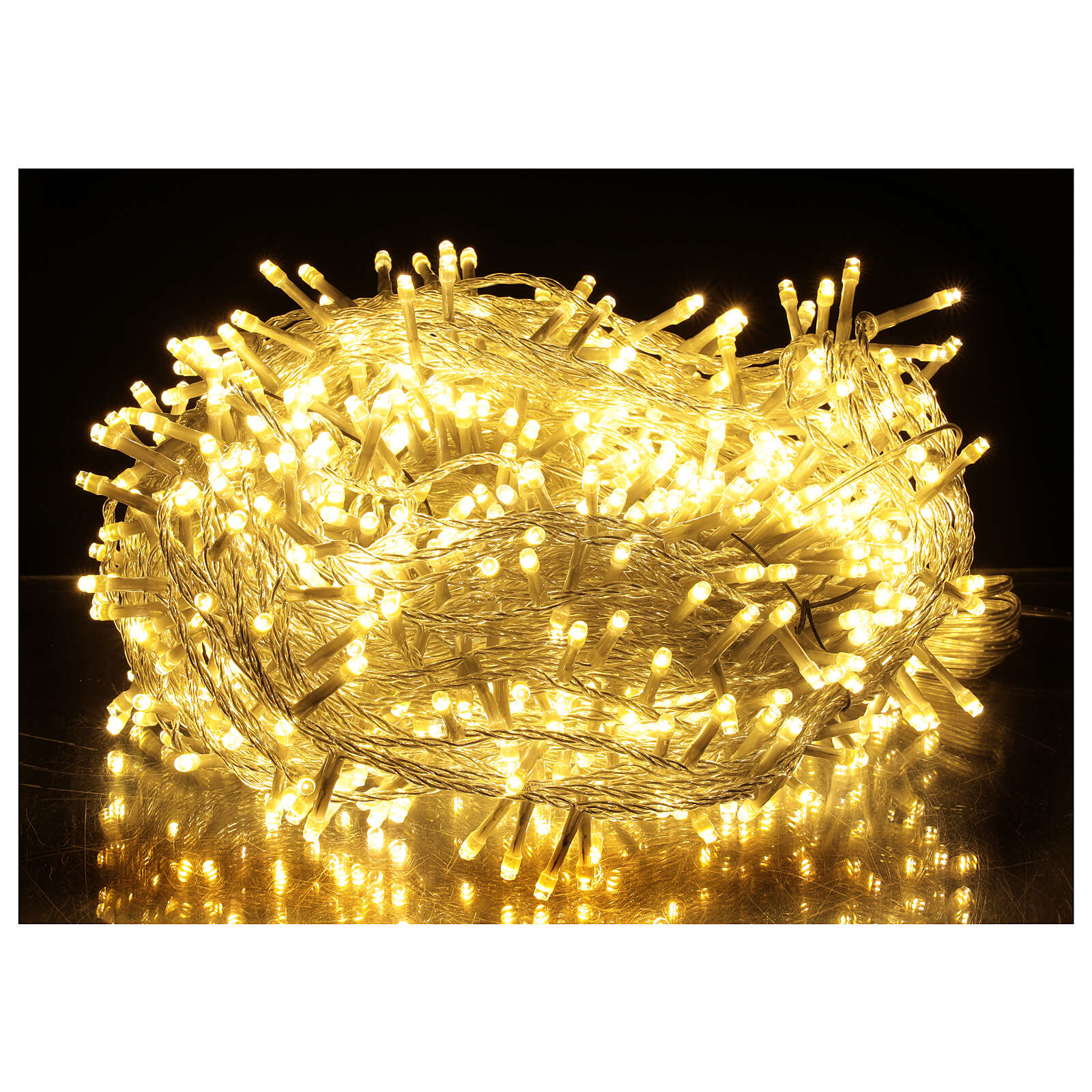 LED string lights 800 lights 2 in 1 warm cold white clear wire 56 m indoor outdoor 3