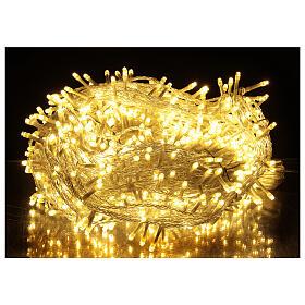 Cadena LED 800 luces 2 en 1 blanco cálido frío cable transparente 56 m int ext s1