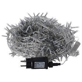 Cadena LED 800 luces 2 en 1 blanco cálido frío cable transparente 56 m int ext s8