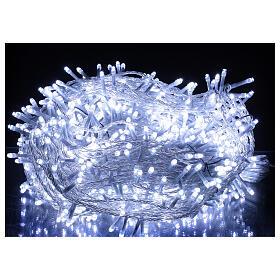 Catena LED 800 luci 2 in 1 bianco caldo freddo cavo trasparente 56 m int est s2