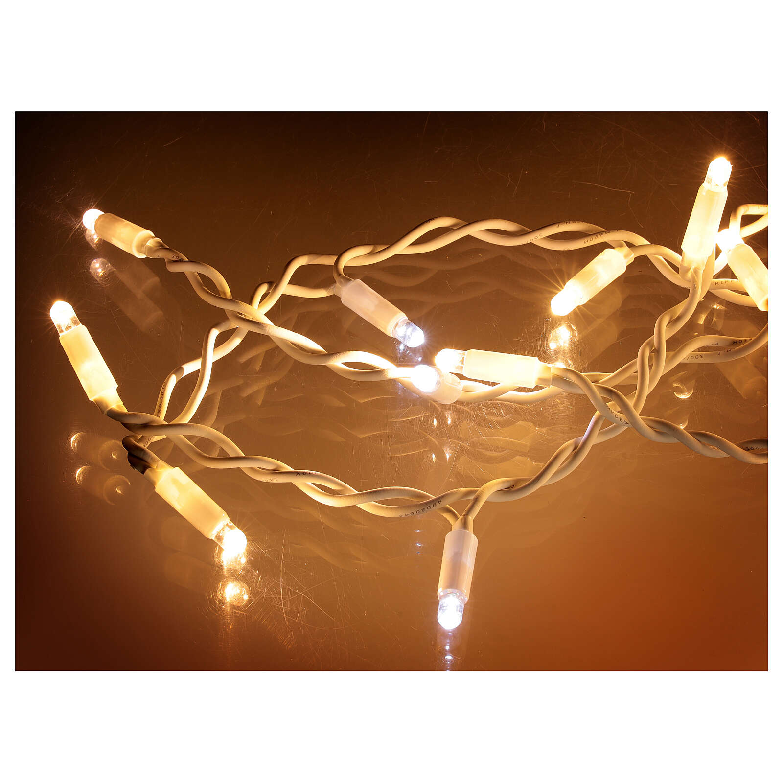 Curtain string lights sloping 160 LEDs warm white 4.8 m indoor outdoor 3