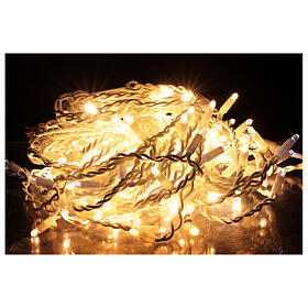 Curtain string lights sloping 160 LEDs warm white 4.8 m indoor outdoor s2