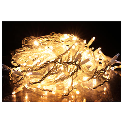 Curtain string lights sloping 160 LEDs warm white 4.8 m indoor outdoor 2