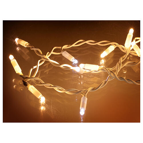 Curtain string lights sloping 160 LEDs warm white 4.8 m indoor outdoor 5