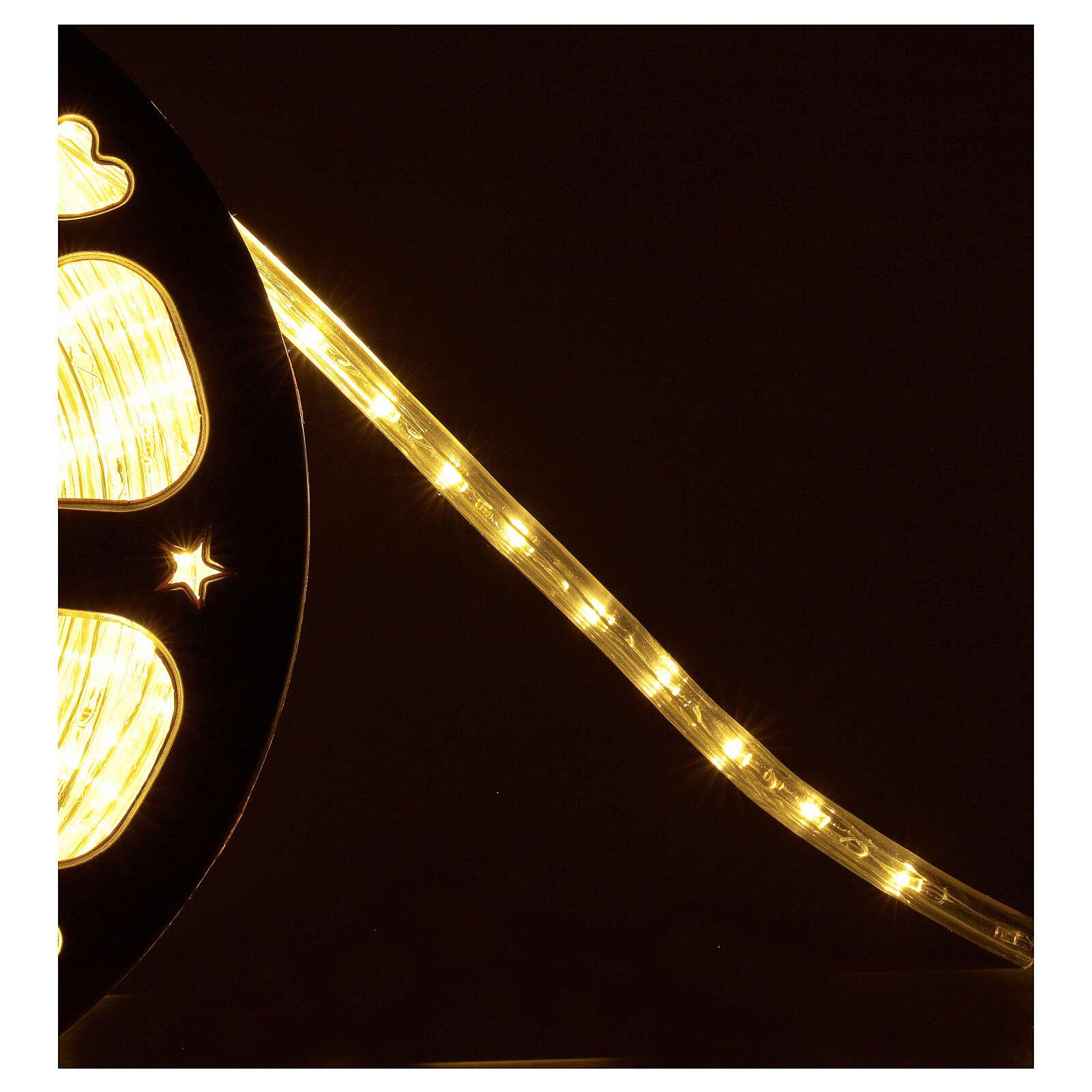 Bobina tubo 1584 led blanco cálido 2 hilos luces Navidad 44 m int ext 3