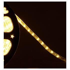 Bobina tubo 1584 led blanco cálido 2 hilos luces Navidad 44 m int ext s3