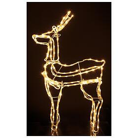 Lighted reindeer standing 3D tapelight warm white 95x60x30 cm indoor outdoor s1