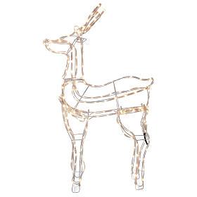 Lighted reindeer standing 3D tapelight warm white 95x60x30 cm indoor outdoor s3