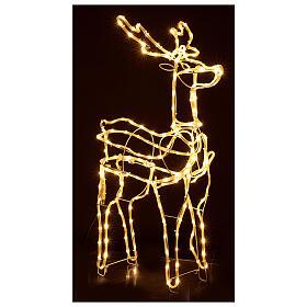 Lighted reindeer standing 3D tapelight warm white 95x60x30 cm indoor outdoor s4