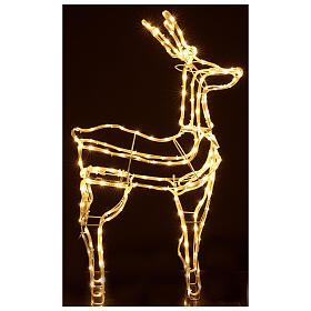 Lighted reindeer standing 3D tapelight warm white 95x60x30 cm indoor outdoor s5