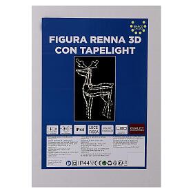 Lighted reindeer standing 3D tapelight warm white 95x60x30 cm indoor outdoor s6