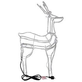 Lighted reindeer standing 3D tapelight warm white 95x60x30 cm indoor outdoor s7
