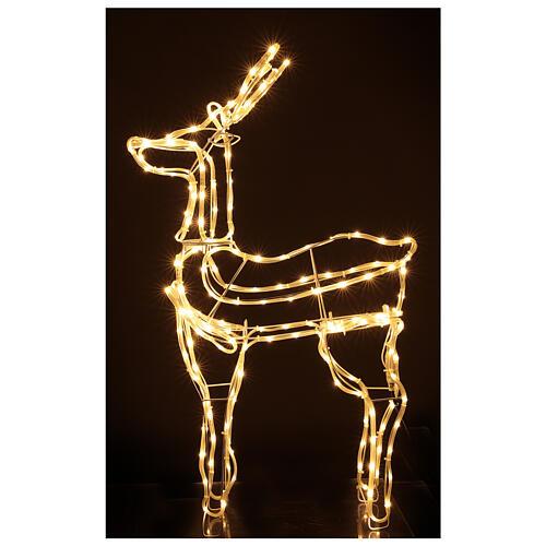 Lighted reindeer standing 3D tapelight warm white 95x60x30 cm indoor outdoor 1