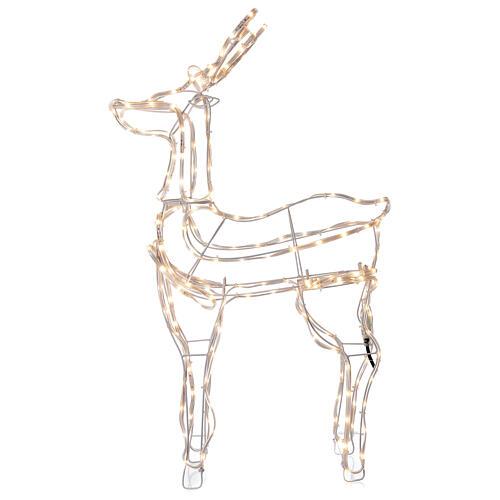 Lighted reindeer standing 3D tapelight warm white 95x60x30 cm indoor outdoor 3