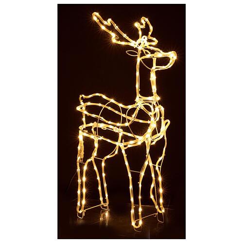 Lighted reindeer standing 3D tapelight warm white 95x60x30 cm indoor outdoor 4