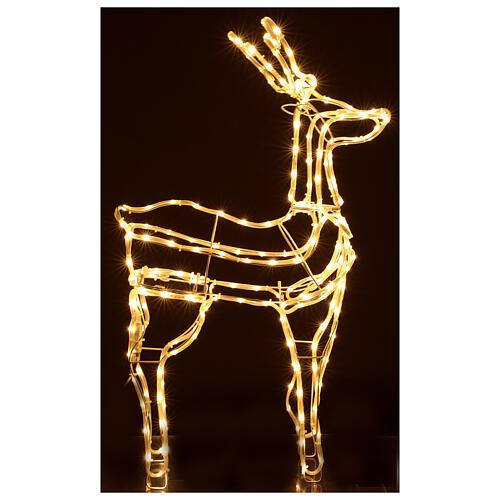 Lighted reindeer standing 3D tapelight warm white 95x60x30 cm indoor outdoor 5