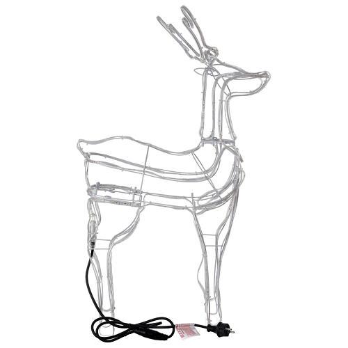 Lighted reindeer standing 3D tapelight warm white 95x60x30 cm indoor outdoor 7