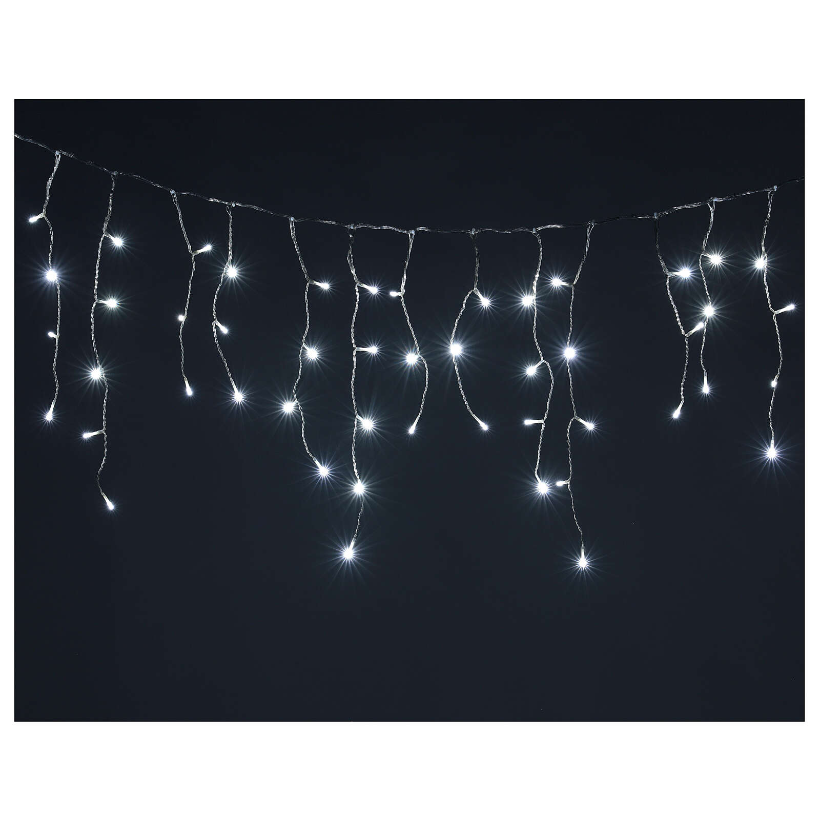 Icicle curtain 180 cold white LEDs 4,2 m indoor/outdoor 4