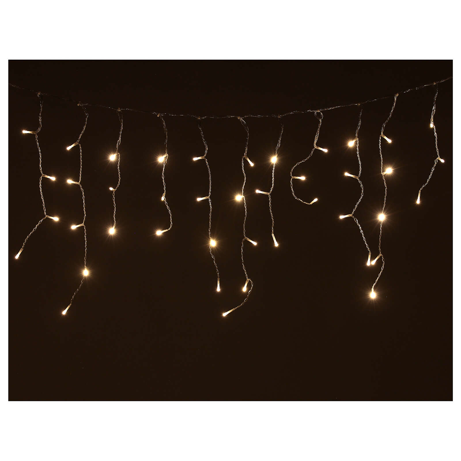Icicle lights battery powered 180 LEDs warm white 4.2 m indoor outdoor 3
