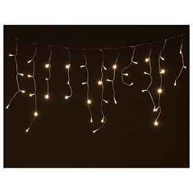 Icicle lights battery powered 180 LEDs warm white 4.2 m indoor outdoor s1