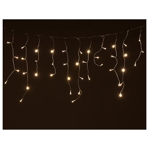 Icicle lights battery powered 180 LEDs warm white 4.2 m indoor outdoor 1