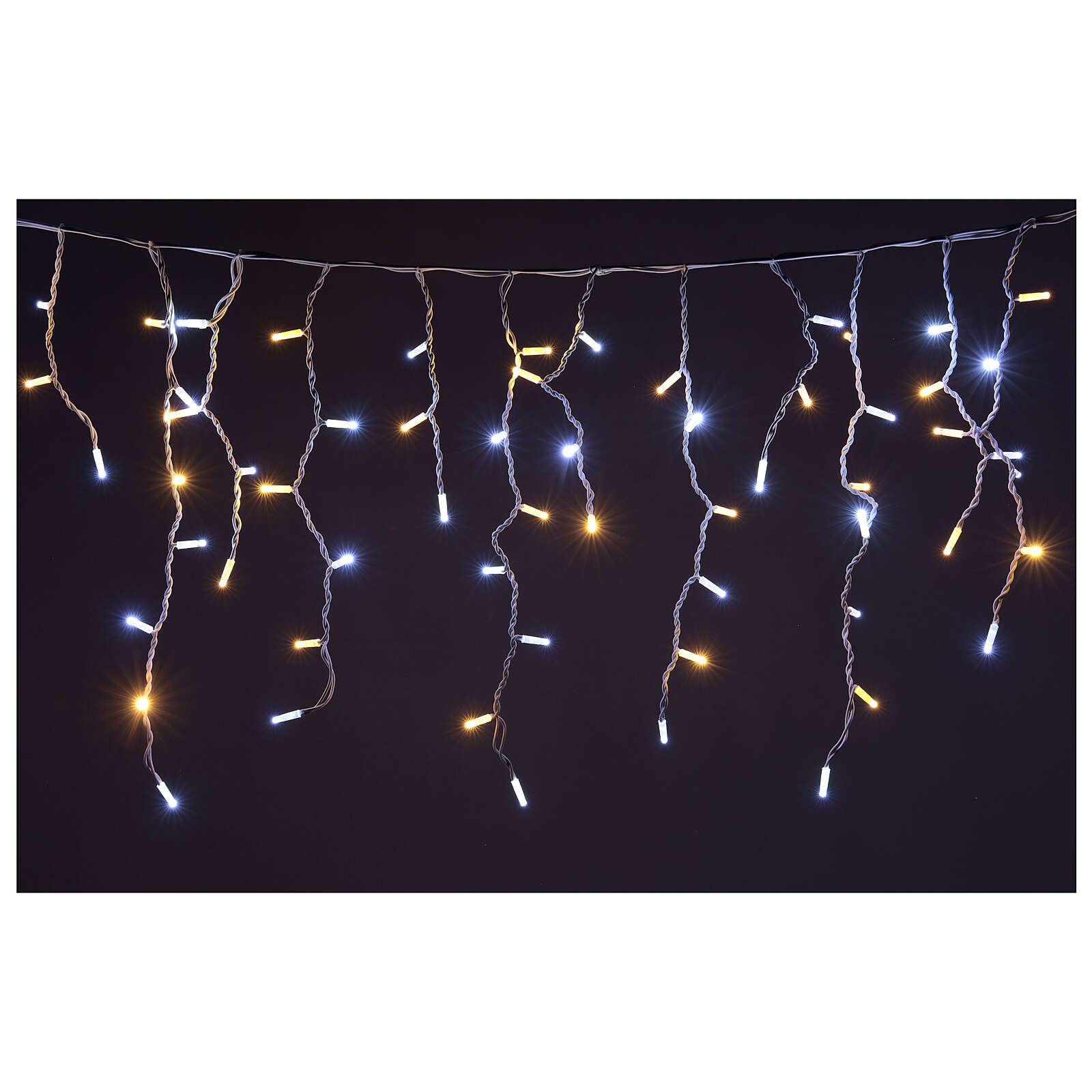 LED icicle lights 180 warm cold lights indoor outdoor 3