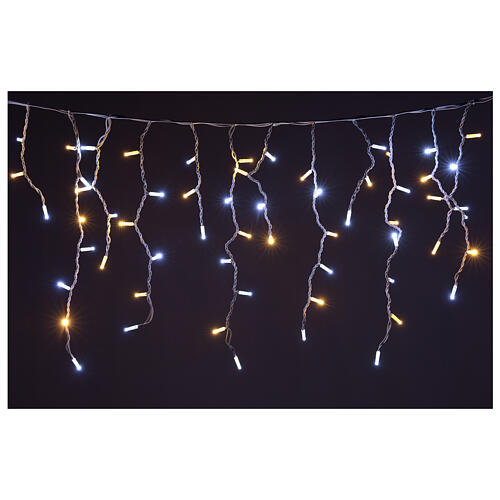 LED icicle lights 180 warm cold lights indoor outdoor 1