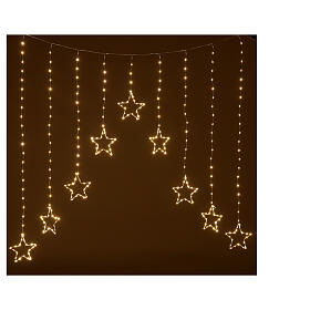 Star lights curtain 308 warm white LEDs 1,2 m indoor/outdoor s1