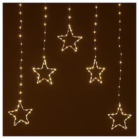 Star lights curtain 308 warm white LEDs 1,2 m indoor/outdoor s2