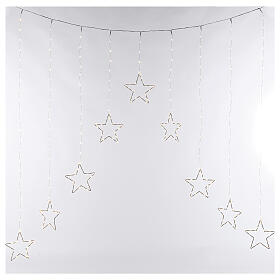 Star lights curtain 308 warm white LEDs 1,2 m indoor/outdoor s4