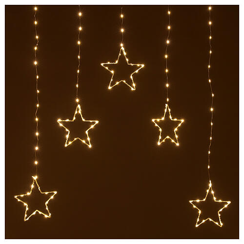 Star lights curtain 308 warm white LEDs 1,2 m indoor/outdoor 2