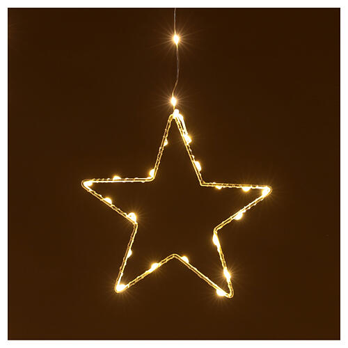 Star lights curtain 308 warm white LEDs 1,2 m indoor/outdoor 3