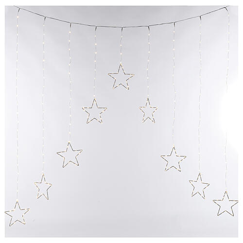 Star lights curtain 308 warm white LEDs 1,2 m indoor/outdoor 4