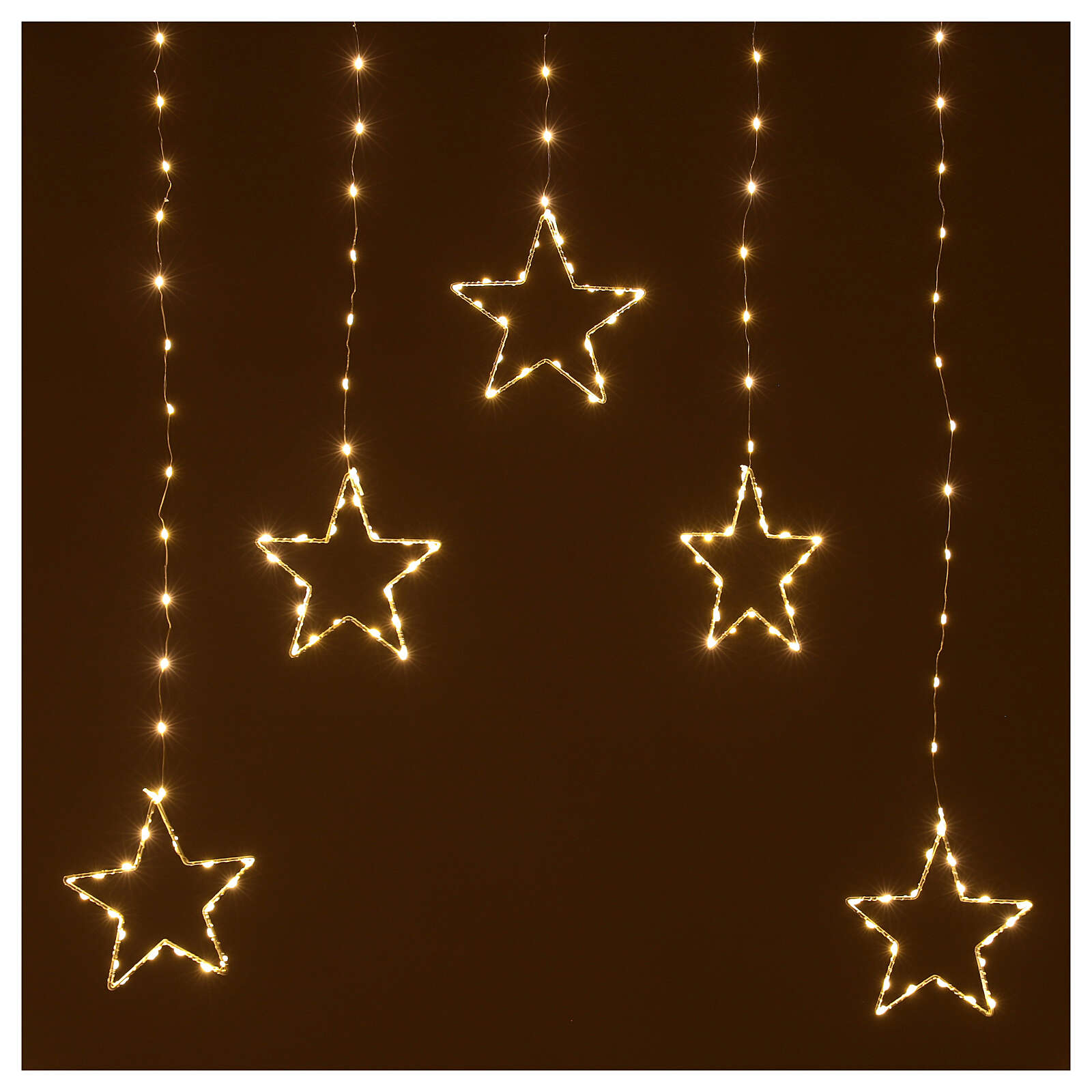 Christmas star string lights 308 LEDs in warm white 1.2 m indoor outdoor 3