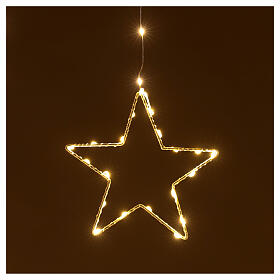 Christmas star string lights 308 LEDs in warm white 1.2 m indoor outdoor s3