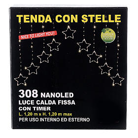 Christmas star string lights 308 LEDs in warm white 1.2 m indoor outdoor s5