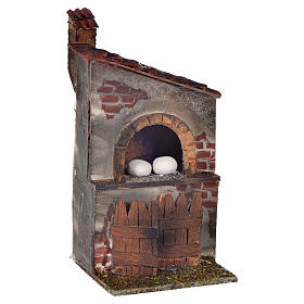 Neapolitan Nativity Scene: Neapolitan Nativity scene accessory, wood-burning oven, chimney