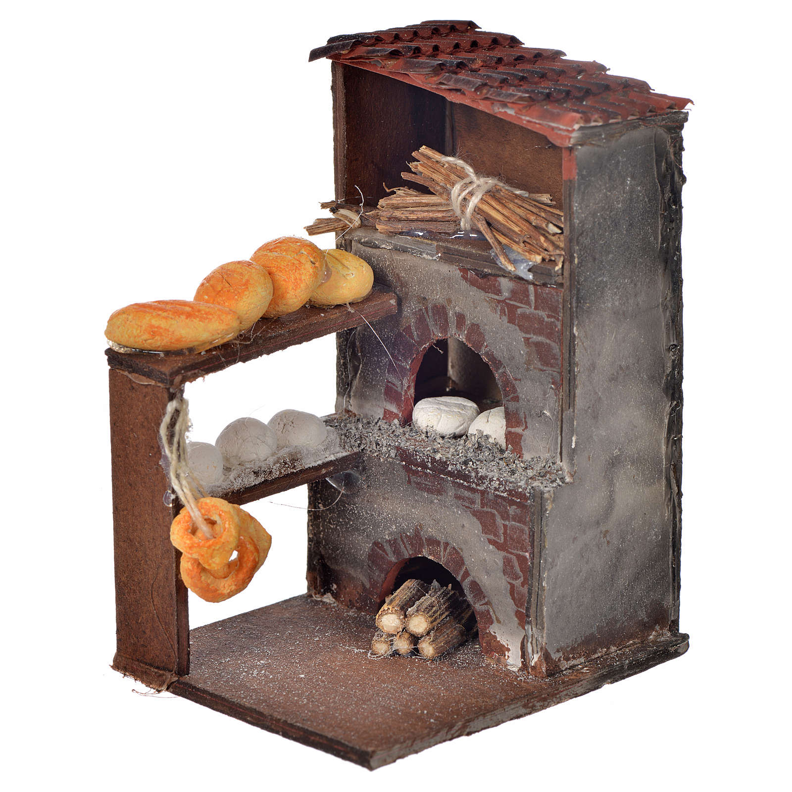 Neapolitan Nativity scene accessory, oven with bread 8,5x5x6cm 4