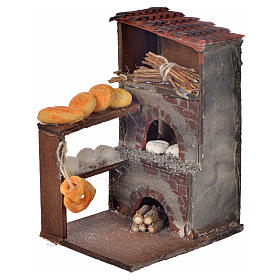 Neapolitan Nativity scene accessory, oven with bread 8,5x5x6cm s1
