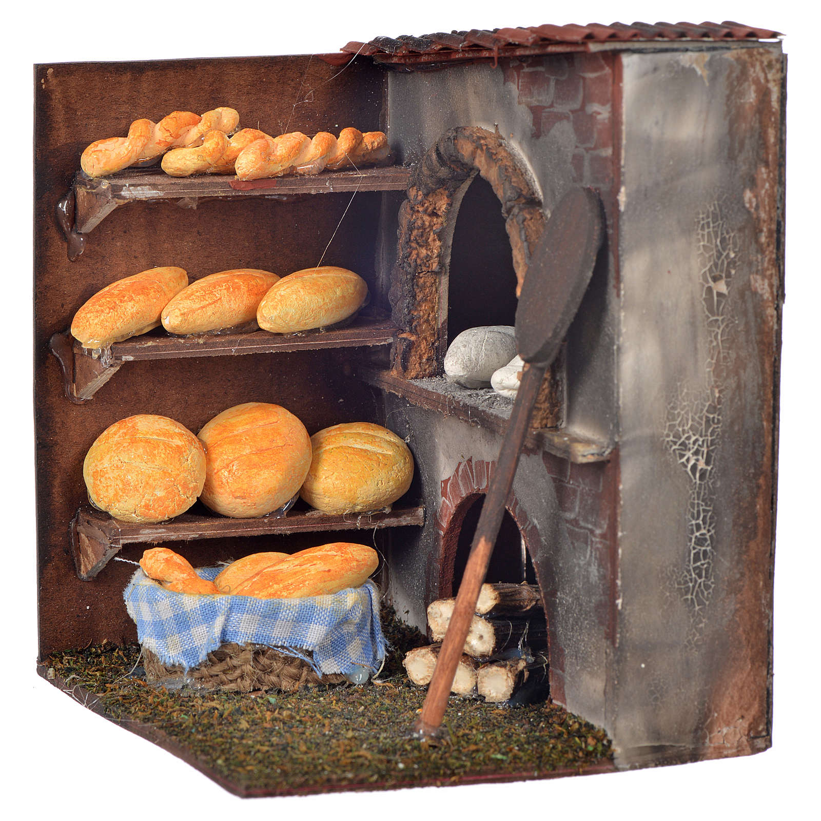 Mini four et pain crèche Napolitaine 10x9x8 cm 4
