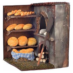 Mini four et pain crèche Napolitaine 10x9x8 cm s2