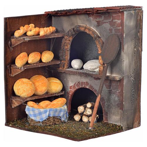 Mini four et pain crèche Napolitaine 10x9x8 cm 1