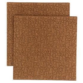 Panneau liège imitation mur pierres petites cm 100x50x1 s1