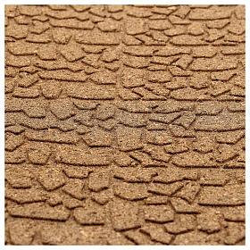 Panneau liège imitation mur pierres petites cm 100x50x1 s2